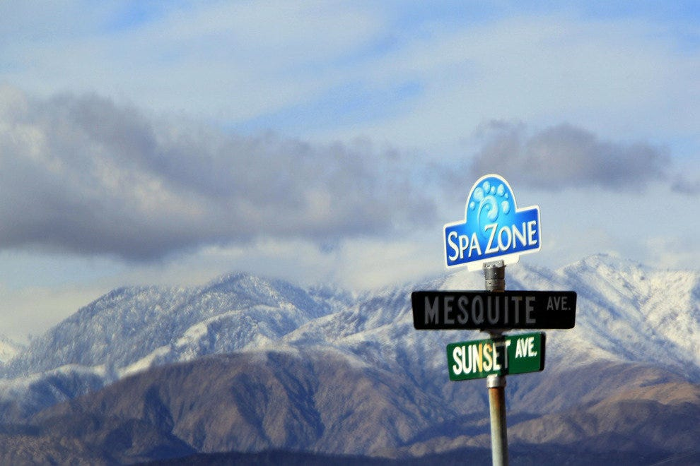 Spa Zone Street Signs, Desert Hot Springs