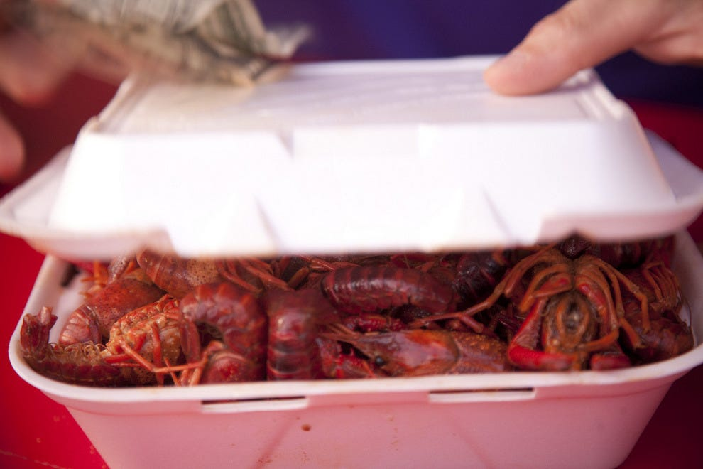 Crawfish to go