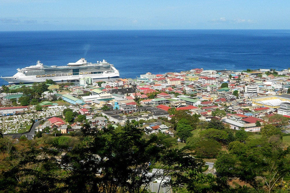 Roseau, the capital of Dominica