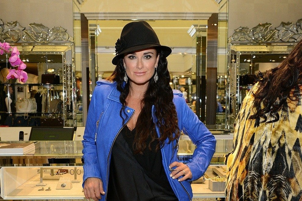 Reality TV star Kyle Richards in her new boutique in Beverly Hills