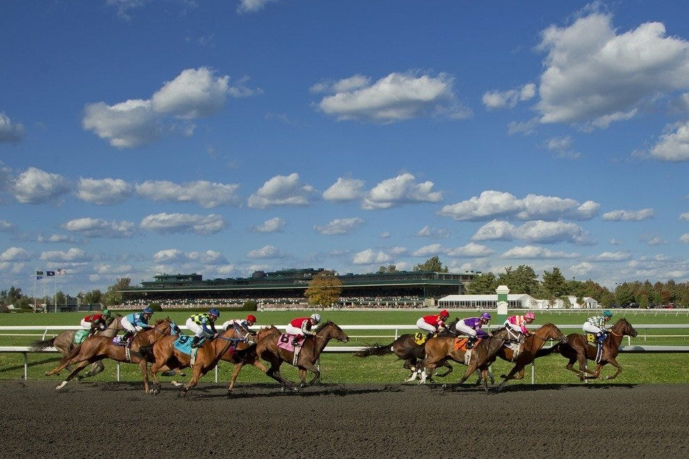 Spring Horses Races at Keeneland in Lexington, KY