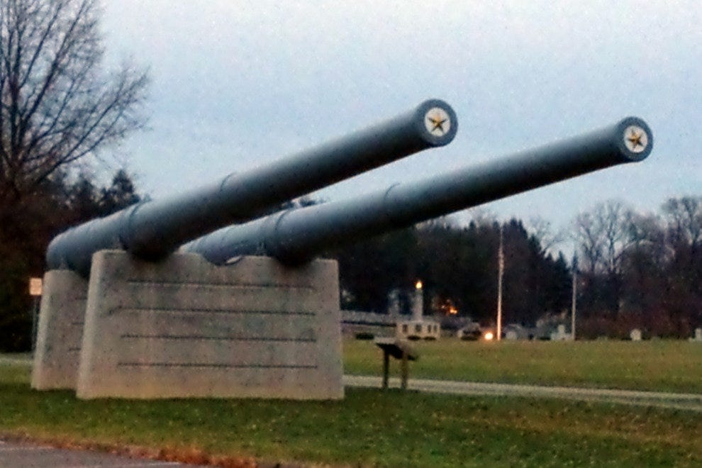 One of the many outdoor exhibits you'll find at the Pennsylvania Military Museum