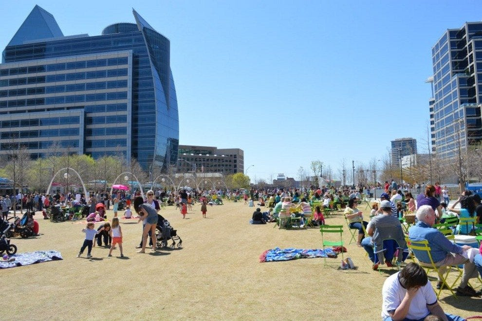 Spring break at Klyde Warren Park