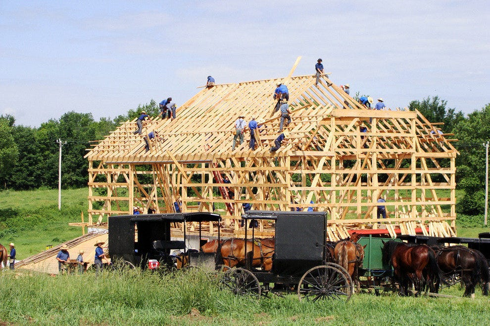 witness barn raising