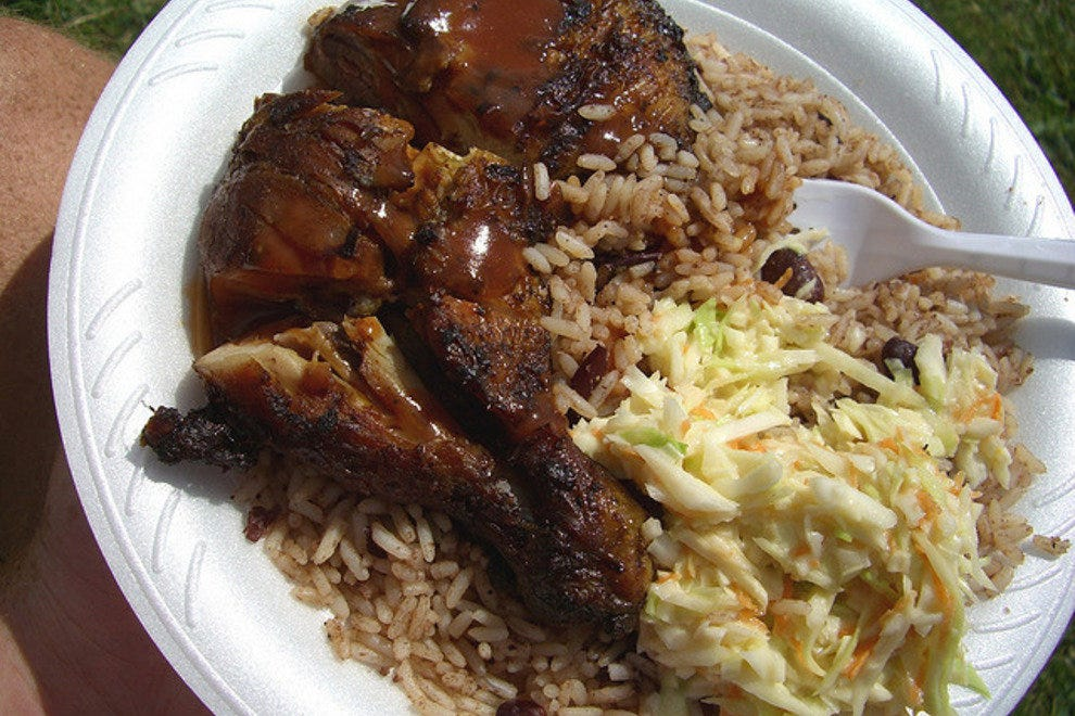 Jerk chicken, ackee and saltfish are all menu staples at the Rum Kitchen