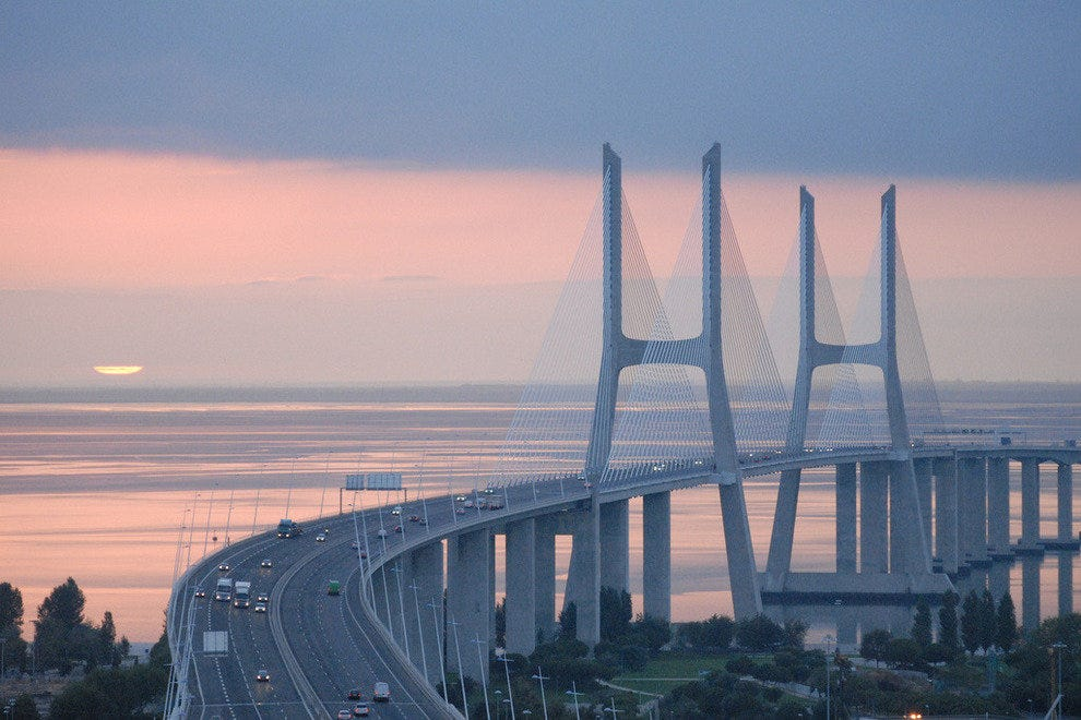 Vasco da Gama Bridge - 56,381 Feet