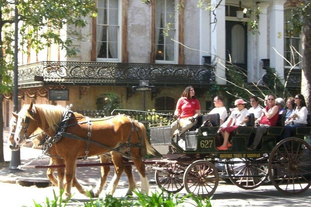 A 50-minute narrated tour with Carriage Tours of Savannah is a great way to see the Historic District