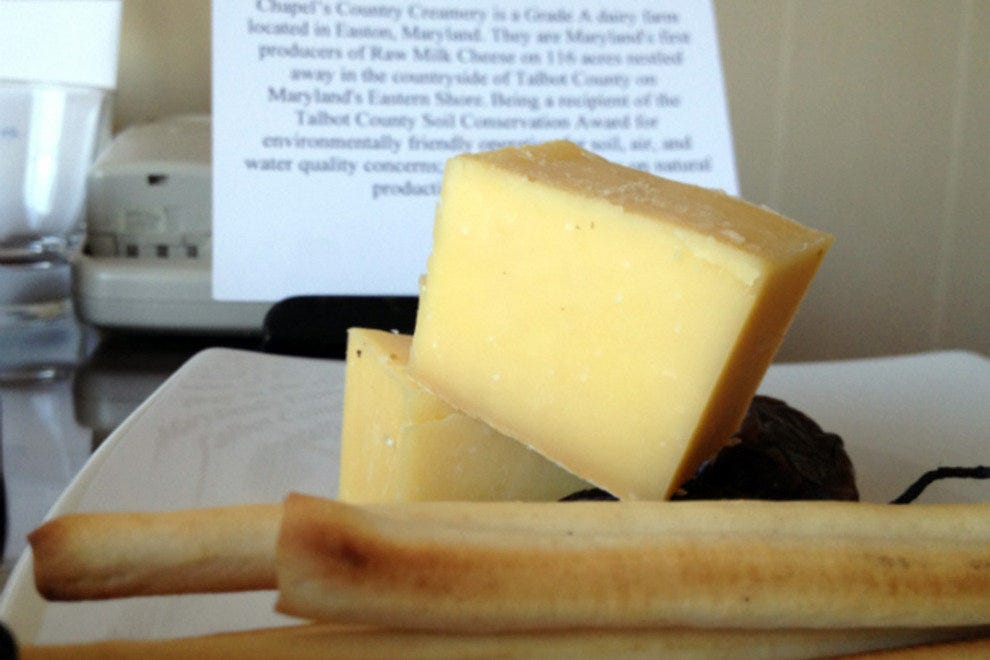 Local raw milk cheese from Talbot County, MD