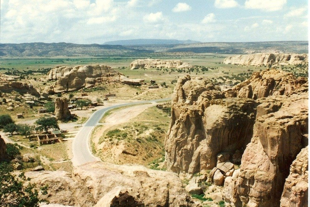 The road to Acoma Pueblo