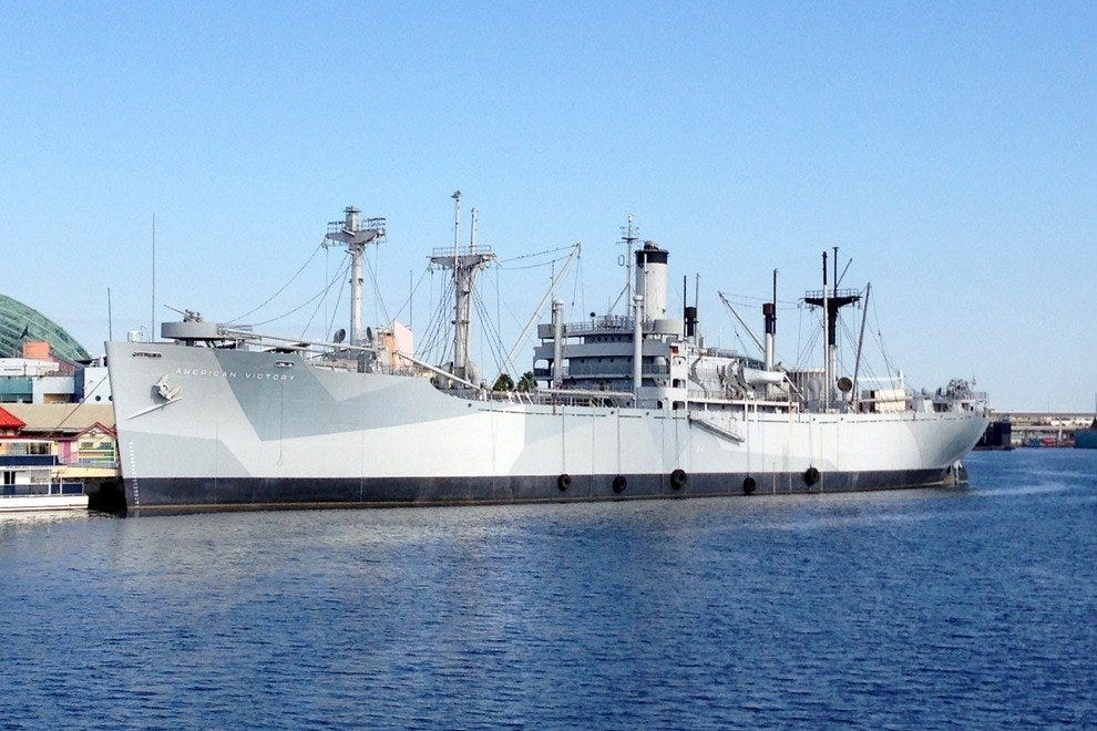 Explore one of the only fully-functioning WWII ships in America aboard the American Victory Ship
