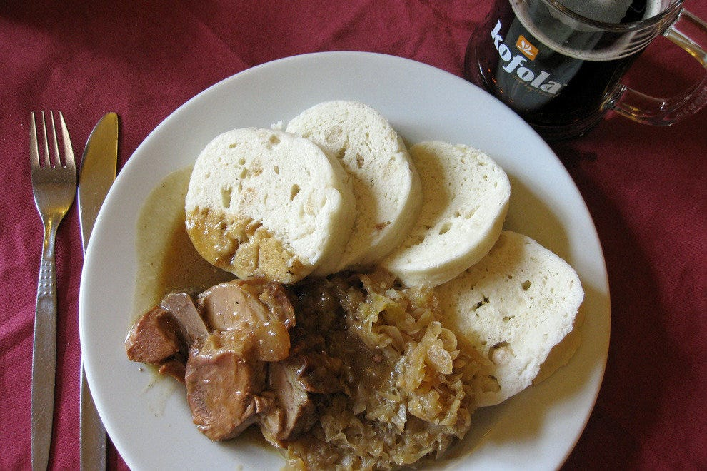 Pork, cabbage and dumplings