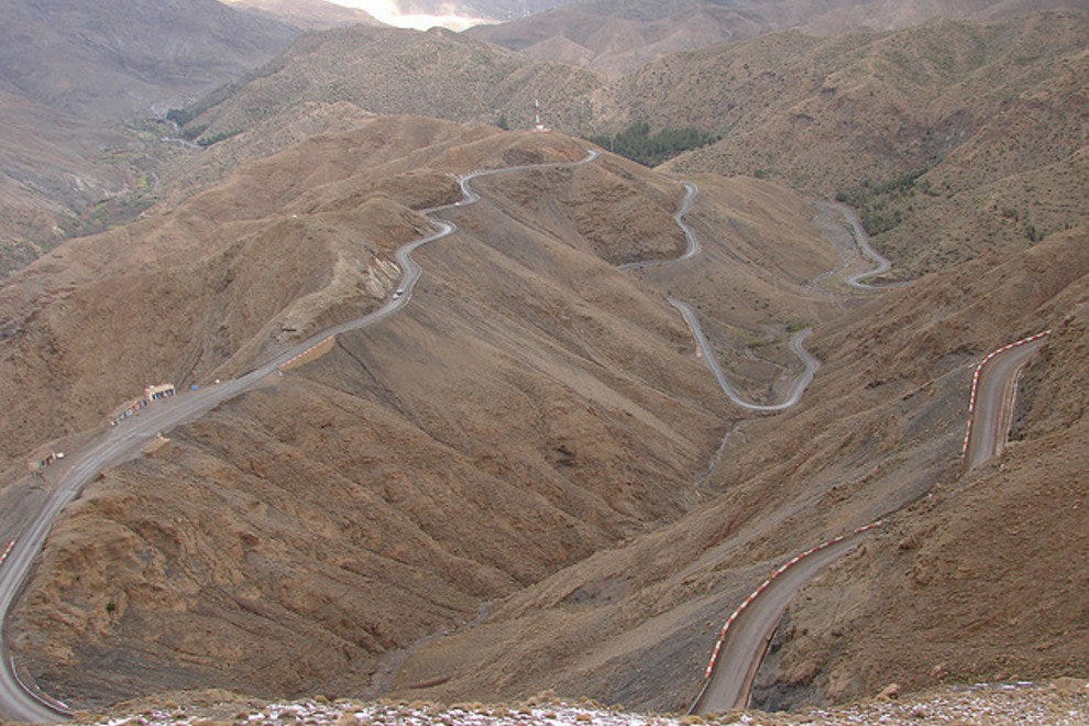 One of many of the incredible roads twisting through the Atlas Mountains