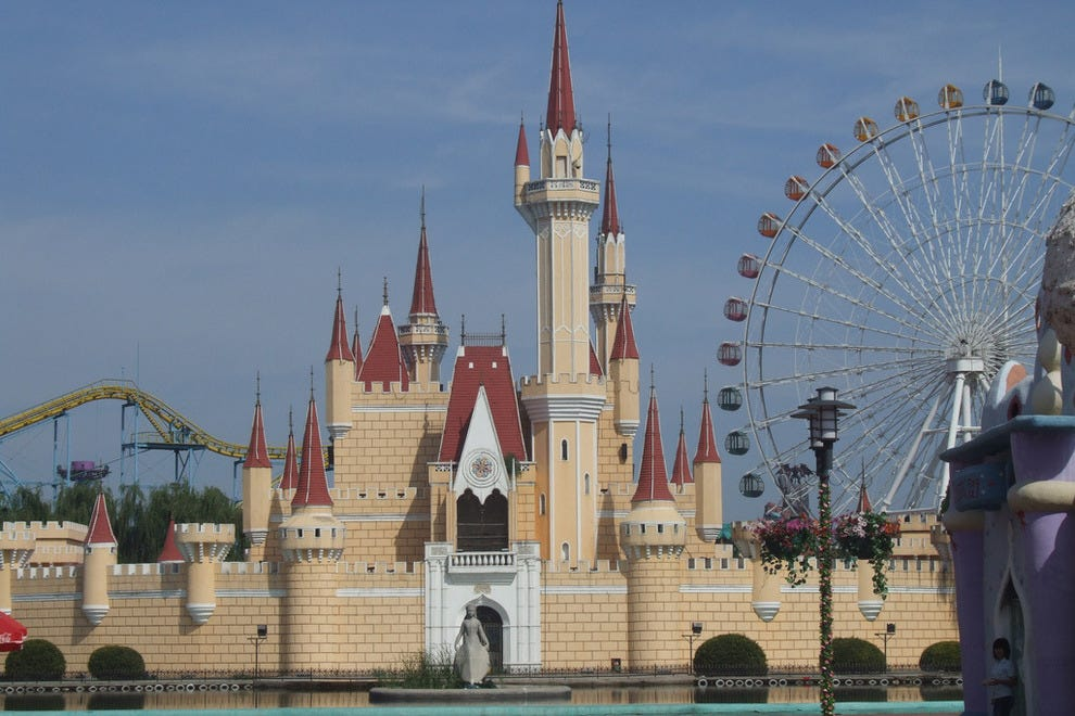 Cinderella's Castle knockoff at Shijingshan Amusement Park.