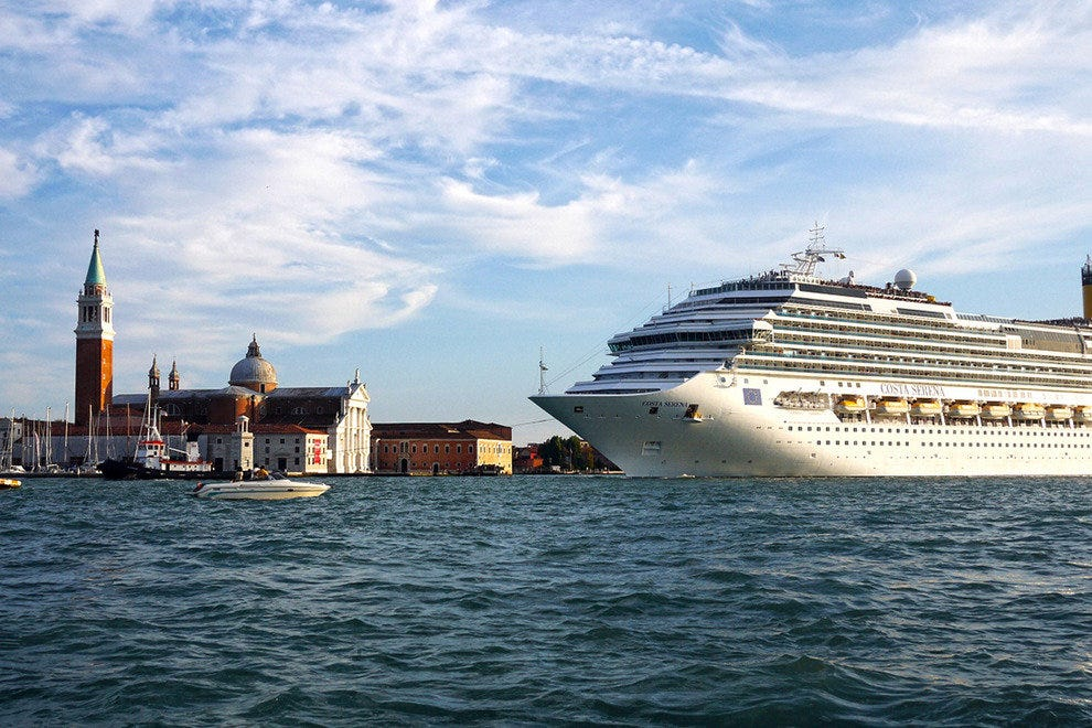 The Costa Serena Sails Past Venice's St. Mark's Square