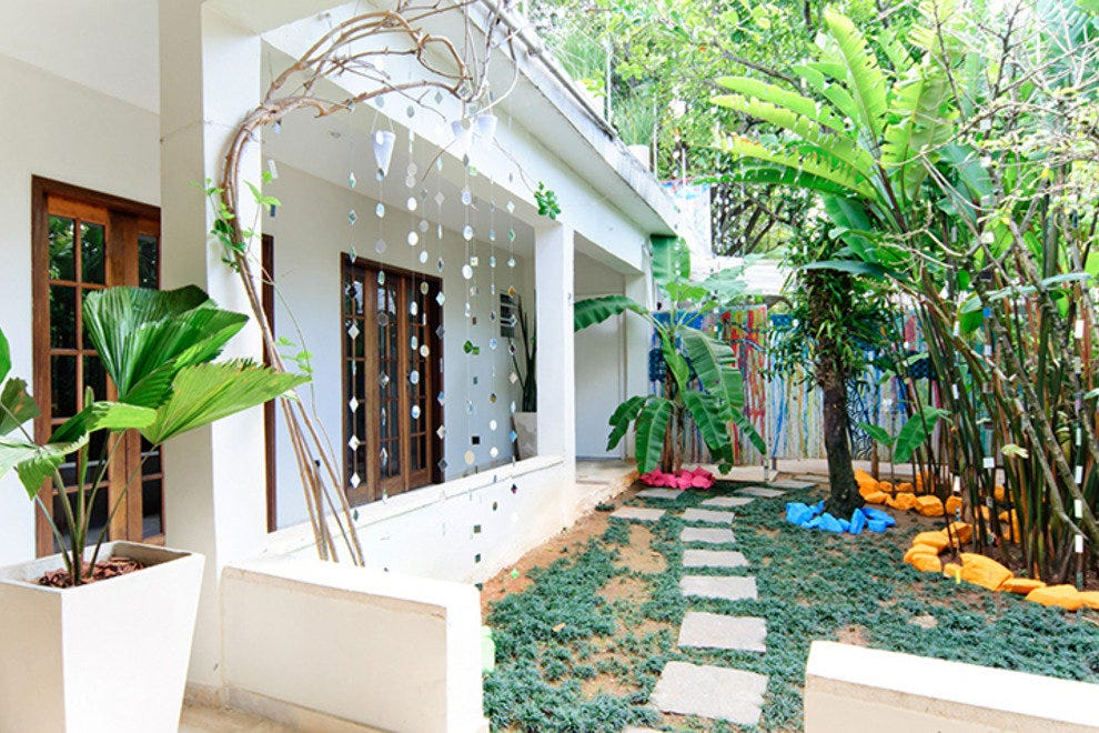 Casa Cool Beans is set in leafy gardens