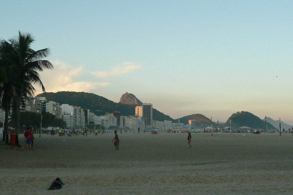 Copacabana Beach is often less crowded than Ipanema
