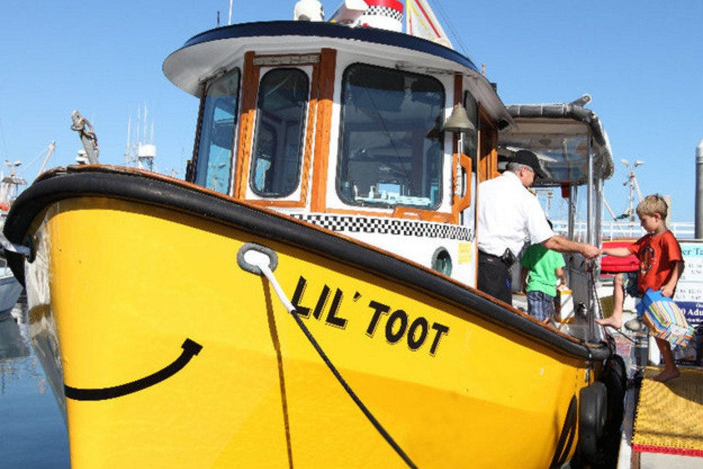 Santa Barbara Water Taxi's Lil' Toot boat is an easy way to get from pier to harbor