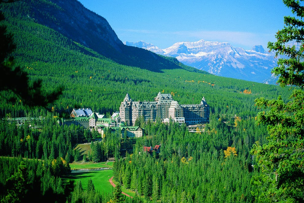 Ground of the Fairmont Banff Springs