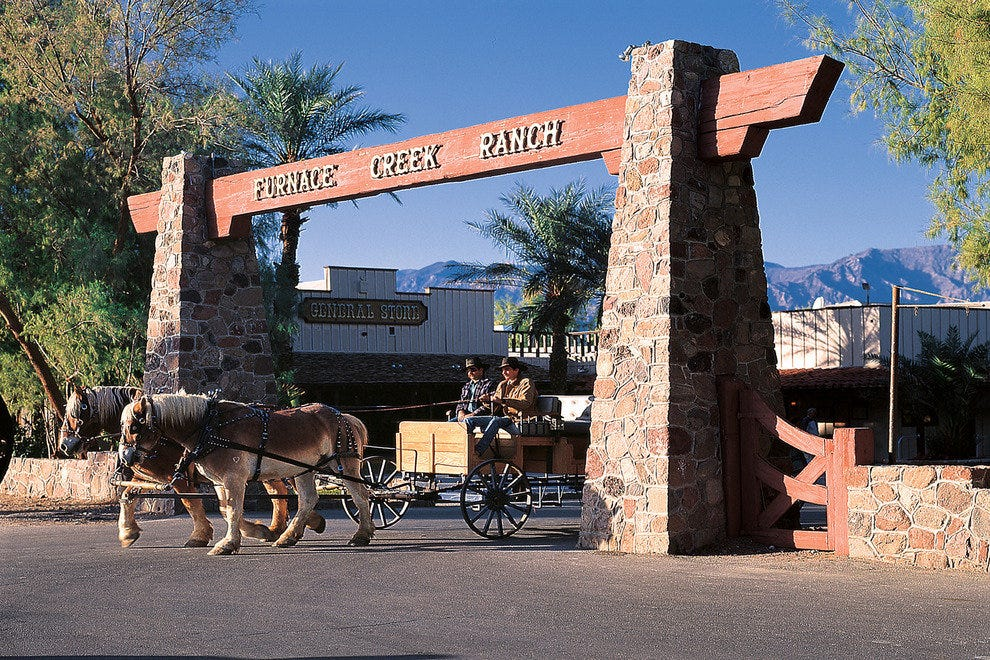 Entrance to the Furnace Creek Resort