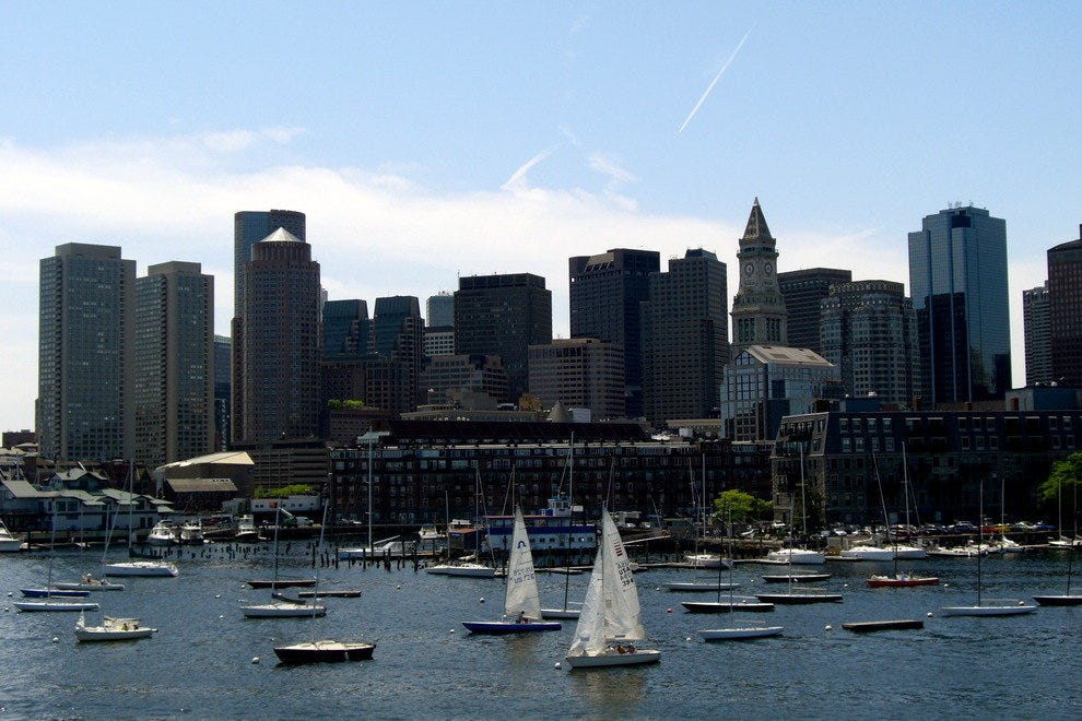 Skyline from Boston Harbor
