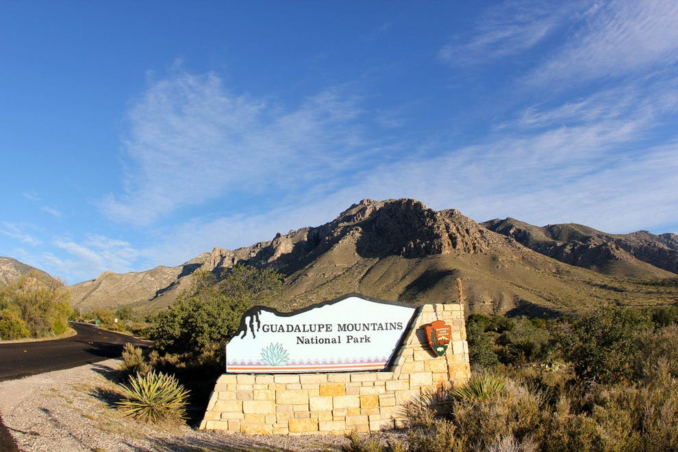 Guadalupe Mountains National Park welcome sign