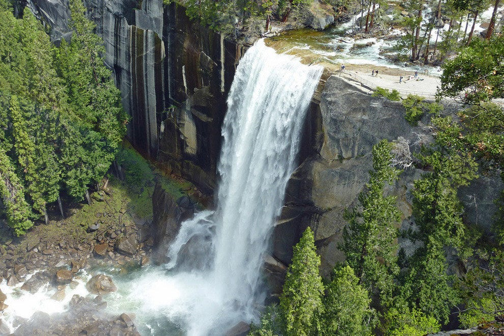 Vernal Falls in Yosemite National Park