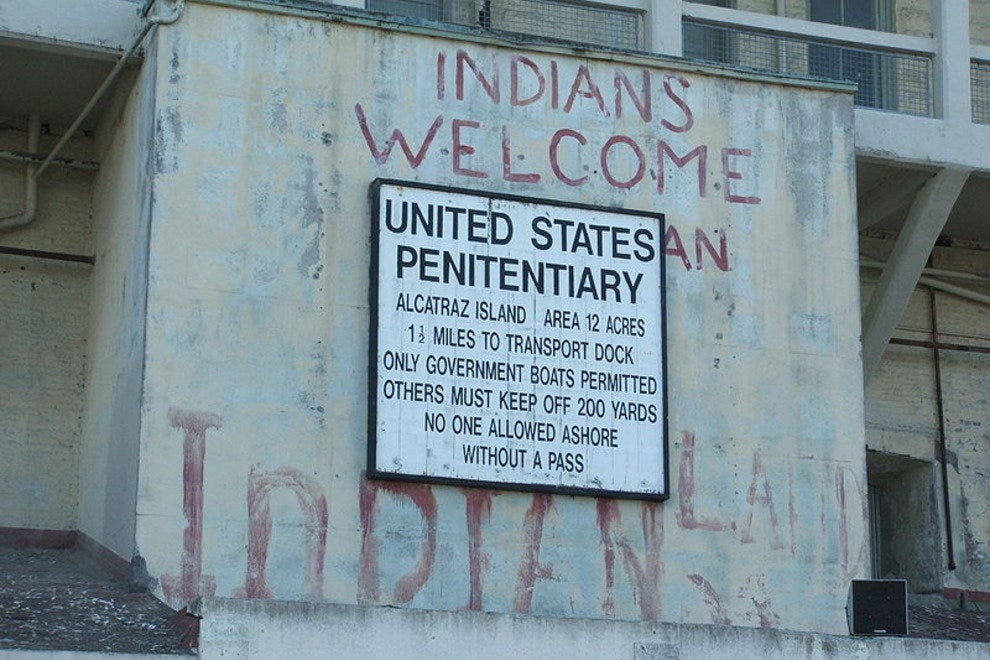 A lingering sign of the 1969-71 Native American occupation.