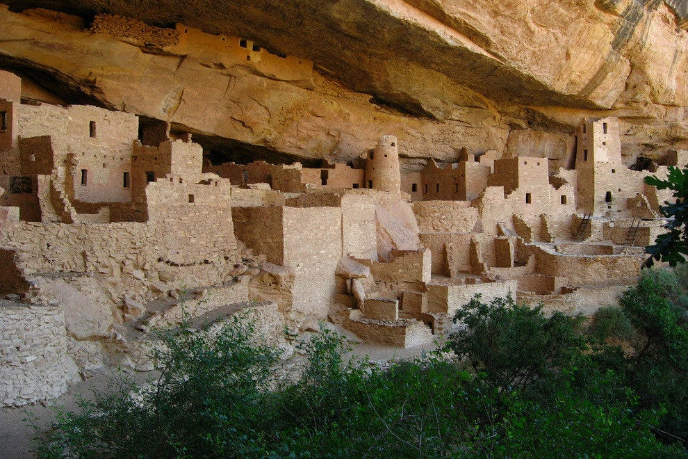Cliff fortress of Mesa Verde National Park