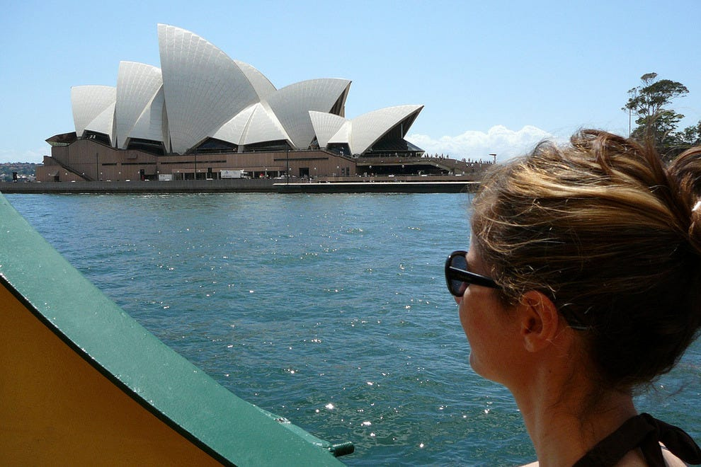 View of the Sydney Opera House from the Manly Ferry