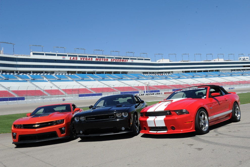 The Chevrolet Camaro ZL1, the Dodge Challenger SRT8 392 and the Ford Mustang Shelby GT500