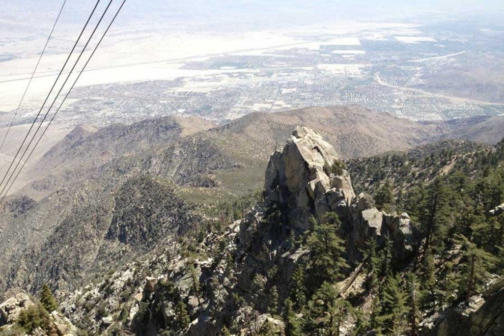 The view as you climb the Palm Springs Aerial Tramway