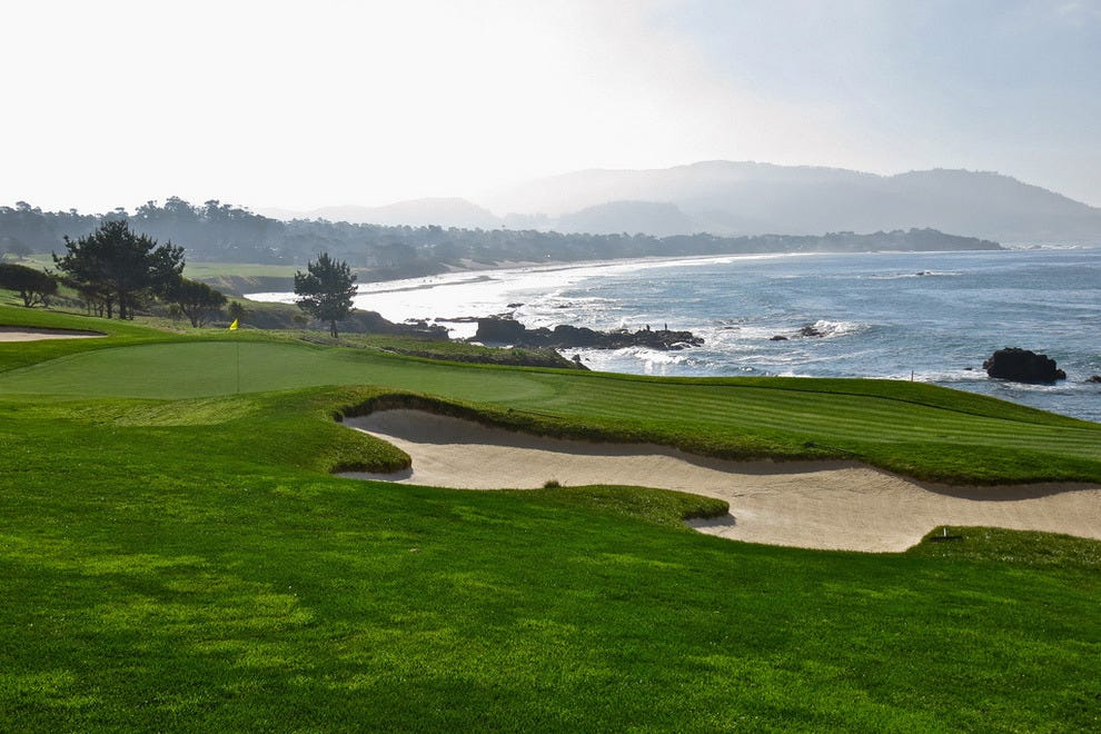 View over the green at Pebble Beach