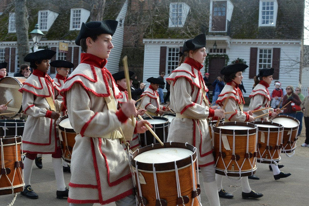 Drummers in Colonial Williamsburg