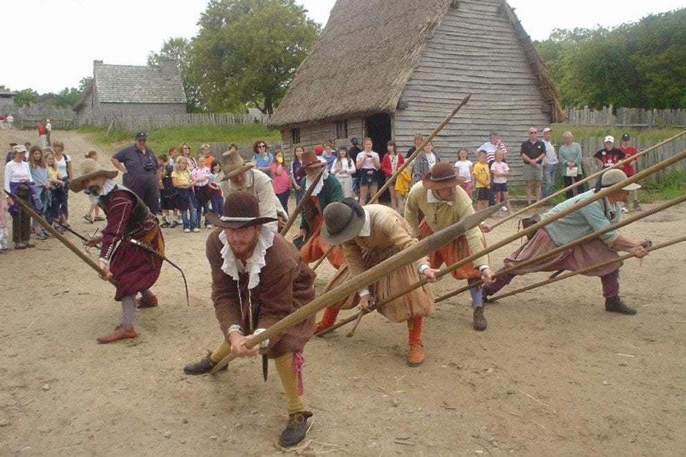 Reenactors at Plimoth Plantation