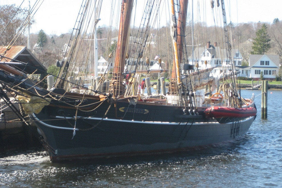 A recreation of the Amistad at Mystic Seaport