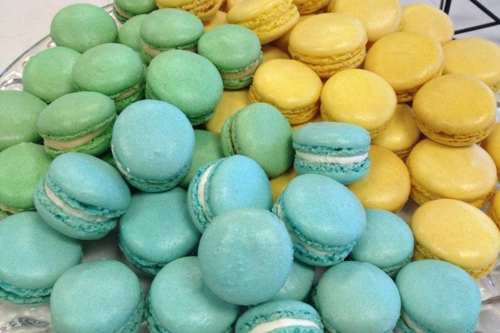 Maison de Macarons' cookies come in a variety of flavors, including lemon, caramel and vanilla bean.
