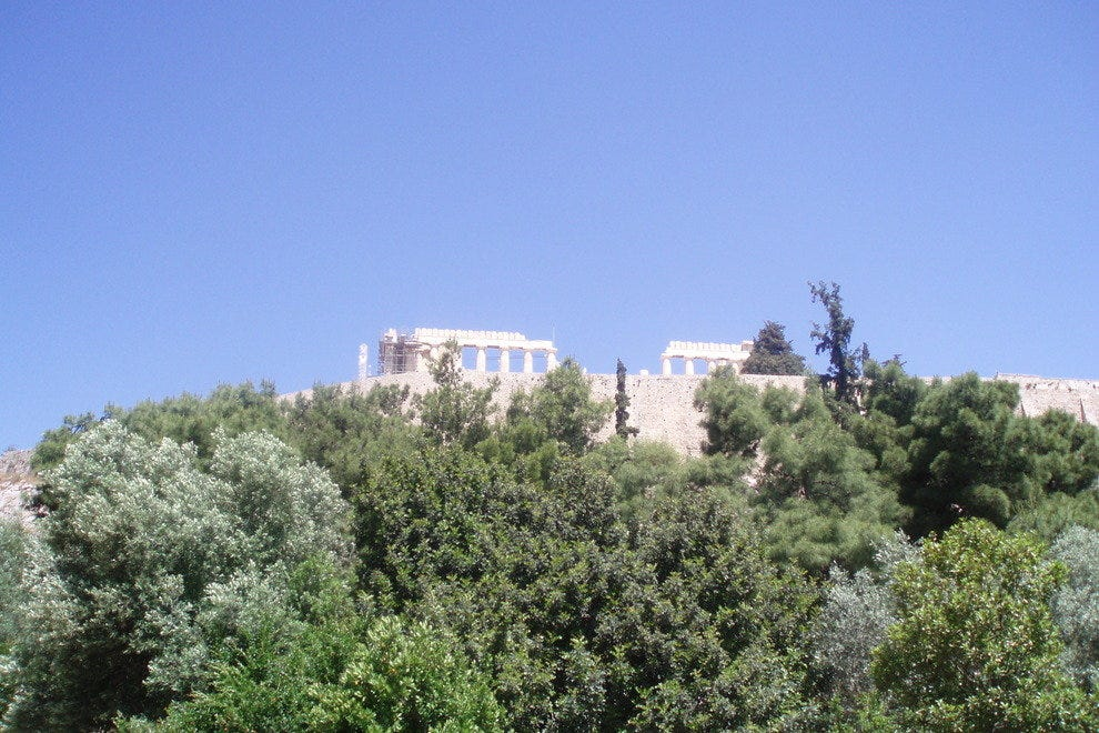 View of the Acropolis from below