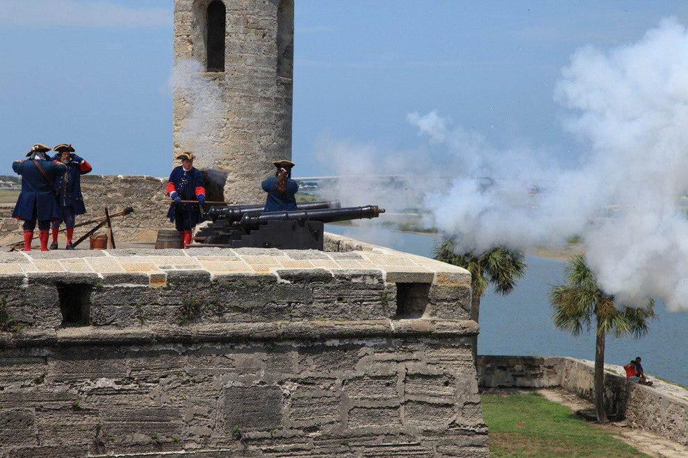Firing the cannon