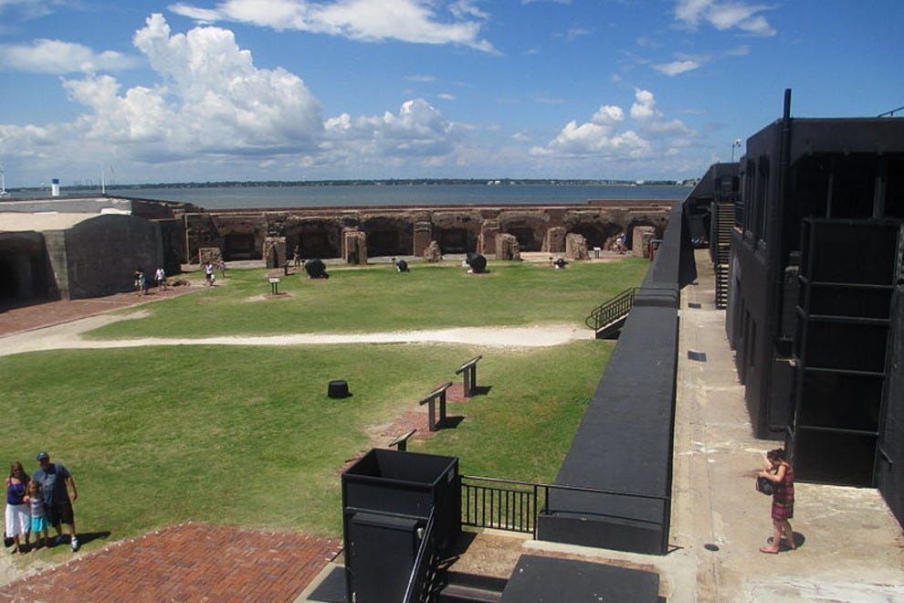 The grounds of Fort Sumter