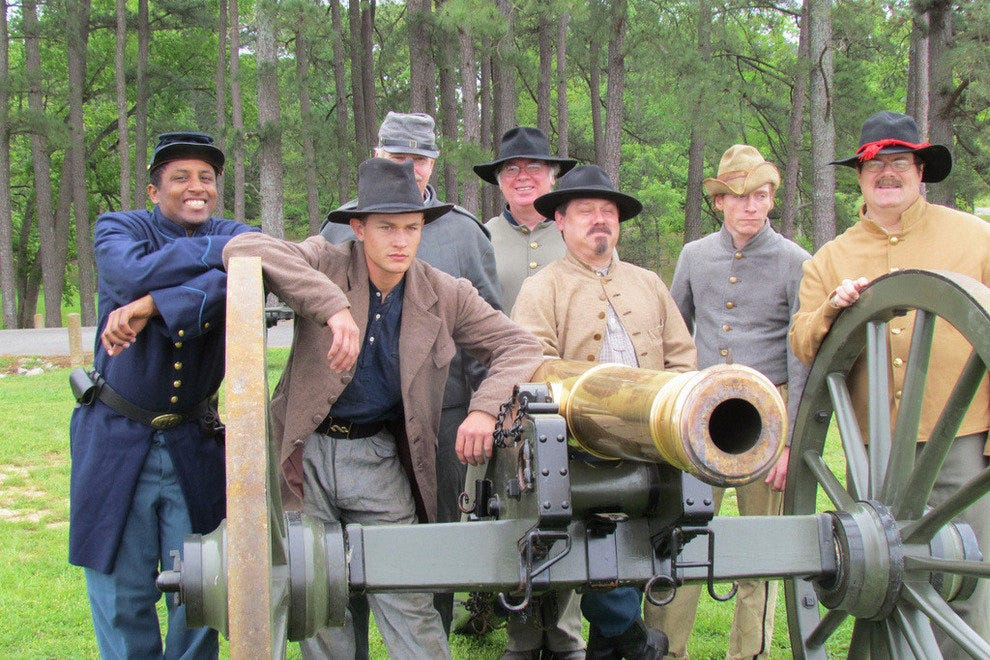 Cannon crew at Shiloh National Military Park