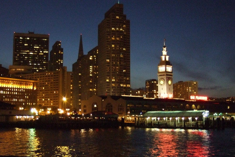 View of Ferry Building from the bay