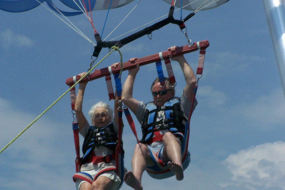 A parasail built for two