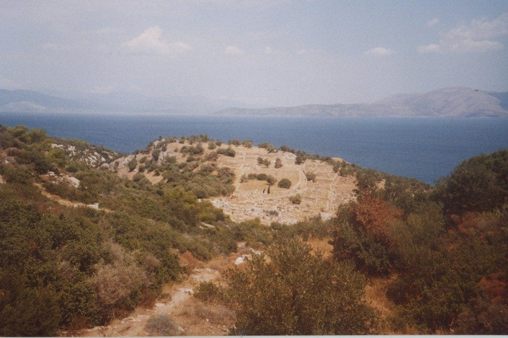 View of the sea from Rhamnous