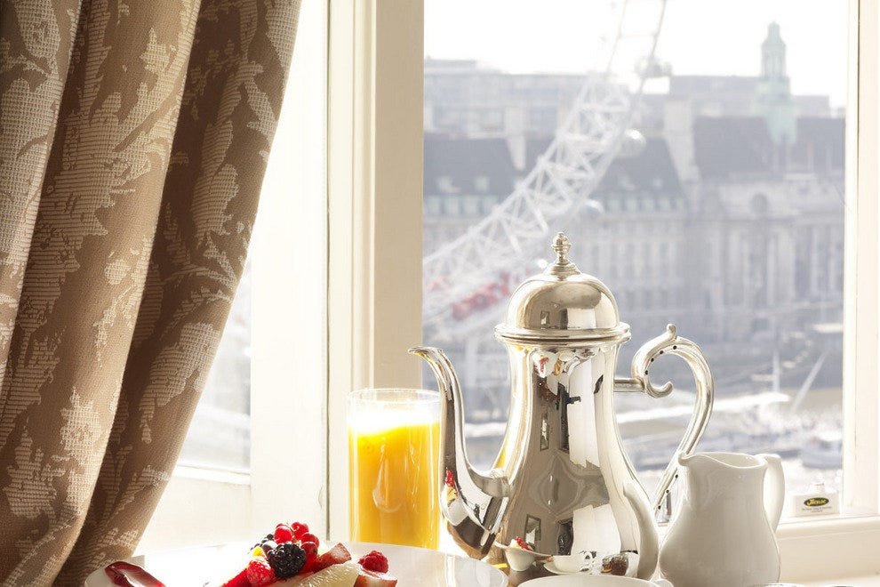 Tea with a view of the London Eye