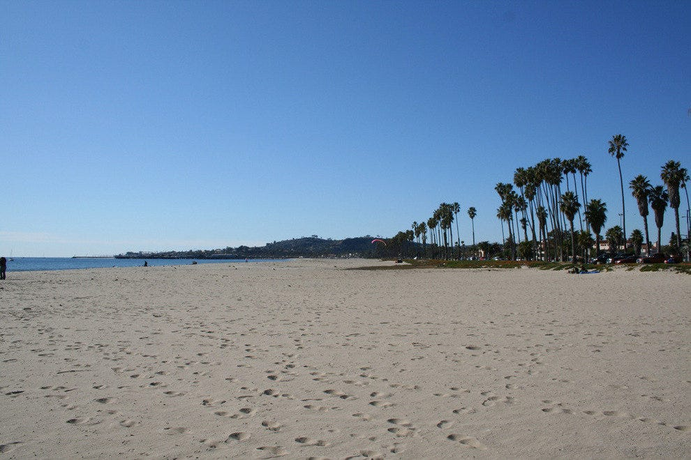 Start your day on the beautiful white sand of East Beach