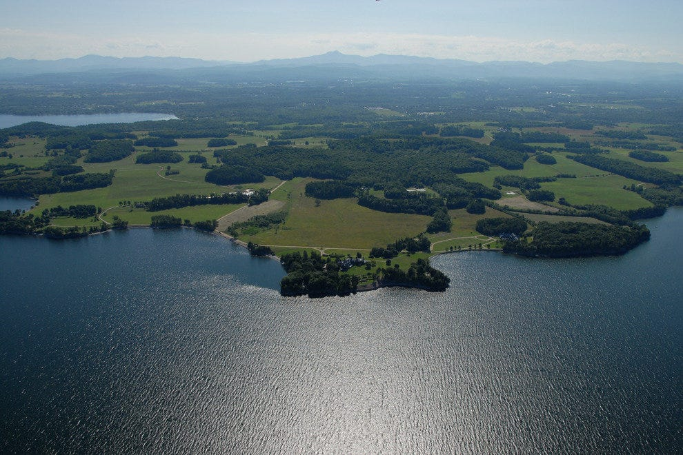 View of Shelburne Farms from Above