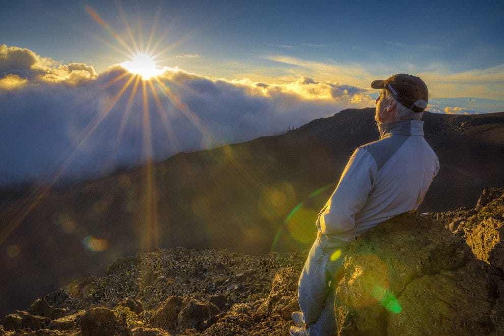 Sunrise on Haleakala Peak