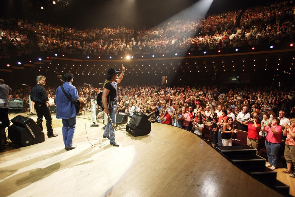 Trace Adkins on stage at the Grand Ole Opry