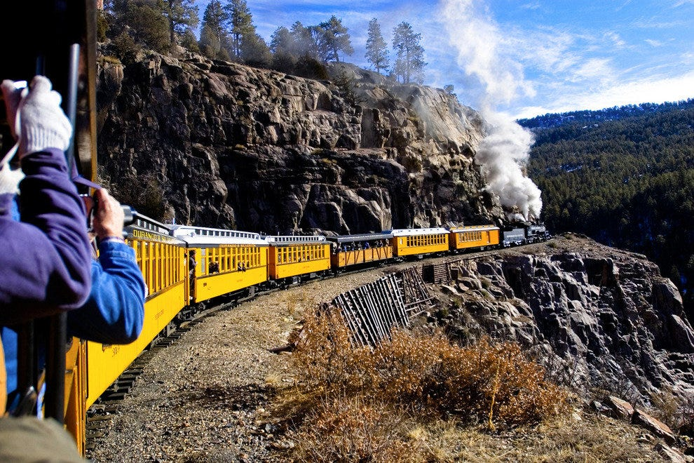 Aboard the Durango & Silverton Narrow Gauge Railroad