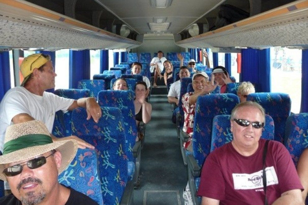 Hop around Cozumel on an air-conditioned bus